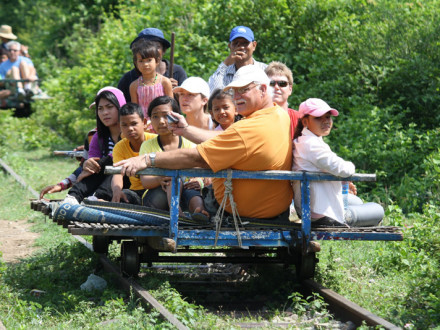 Bamboo Train in Battambang, Cambodia