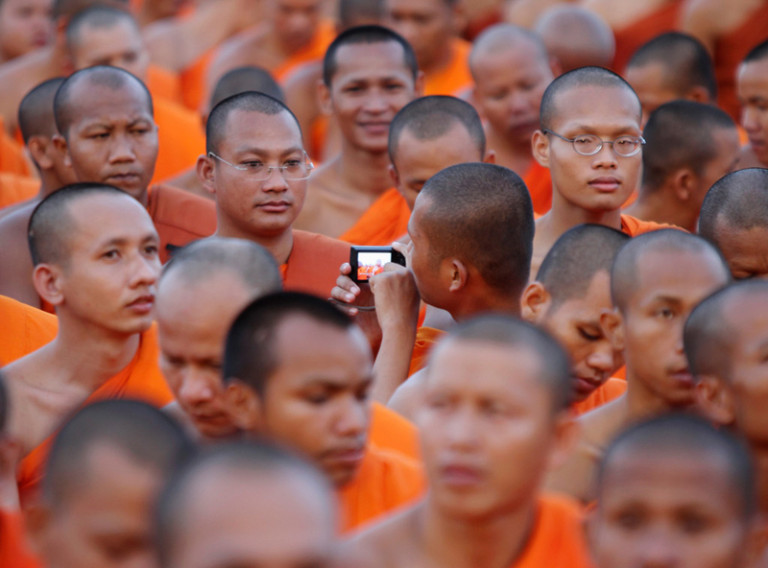 Photos of Cambodian Monks