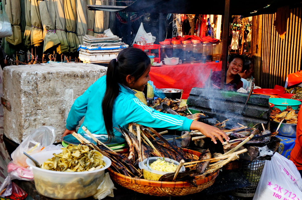 Street food in Phnom Penh, Cambodia