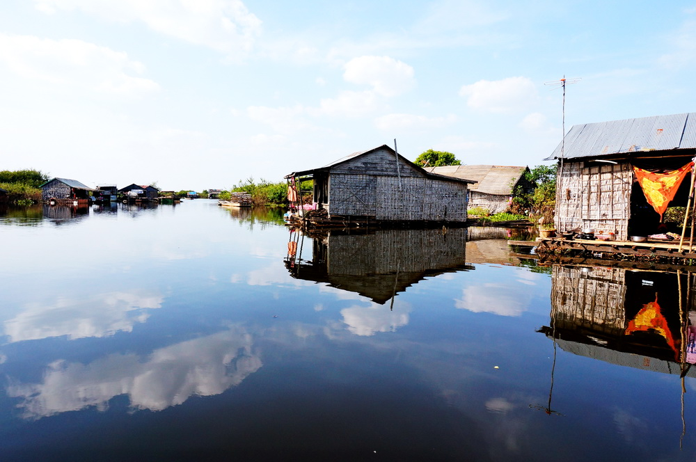 Floating Village on Tonle Sapa Lake, Cambodia