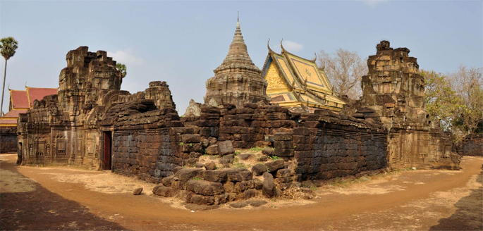 Nokor Bachey temple in Kampong Thom, Cambodia