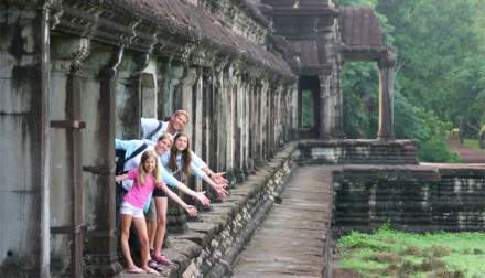 Travel with kids to Cambodia