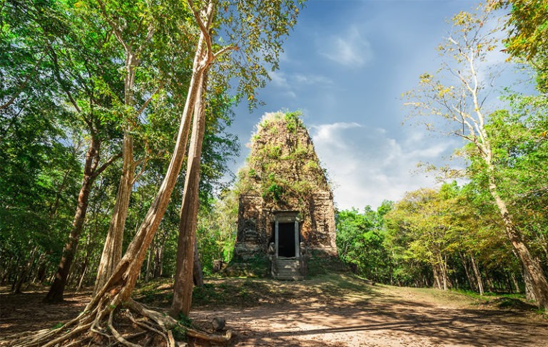 Jungle Temple Sambor Prei Kuk in Cambodia