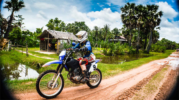 Motorbiking in Cambodian Countryside (Photo credit Ride Cambodia)