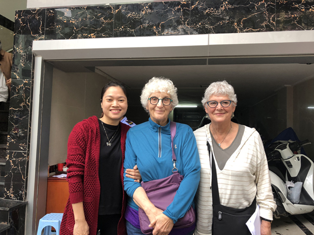 Mrs.Yvette Shiffman and Mrs. Barbara Feinberg with Phuong in Hanoi
