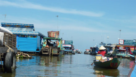 Kampong Luong Floating Village on Tonle Sap Lake Cambodia