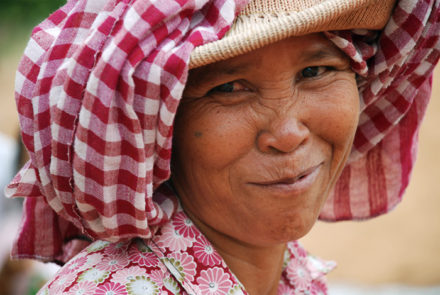 The Krama scarf becomes indispensable in the Cambodians' daily life