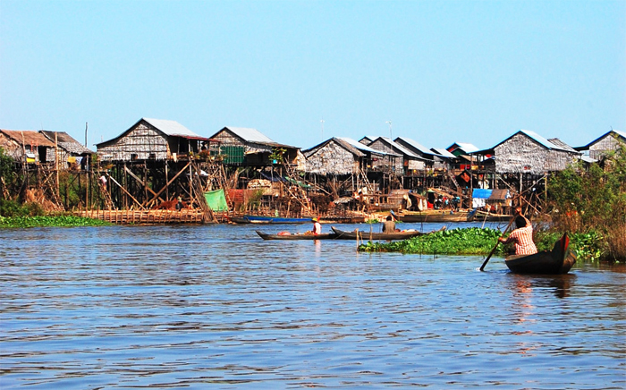 Kompong Khleang Floating Village in Cambodia