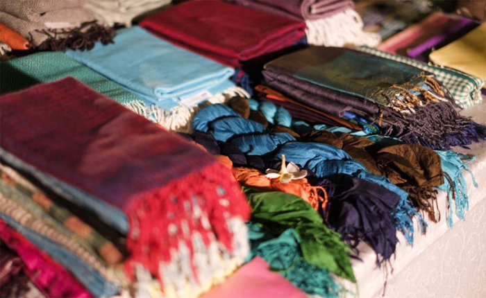 The traditional Takeo silk products in Cambodia