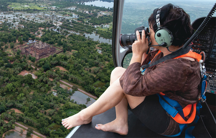 Take a Helicopter Tour over the Angkor