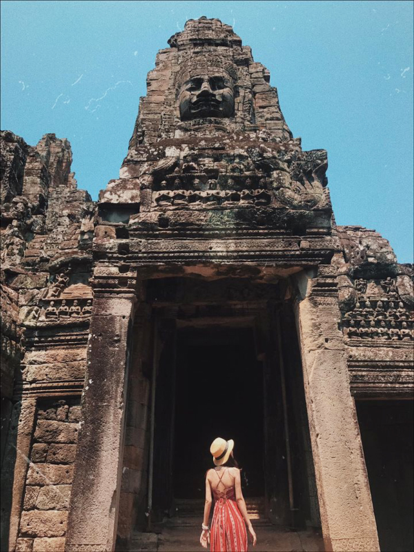 Check-in at Angkor Thom Cambodia